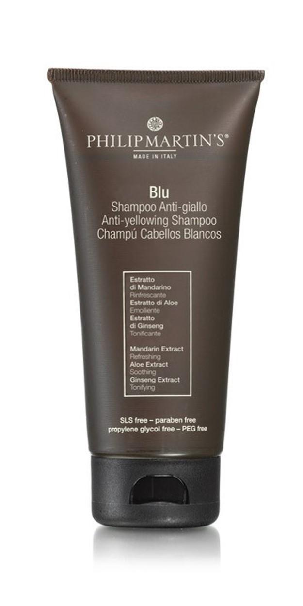 """שמפו המיועד לשיער בלונדיני, לבן או מובהר, מונע """"הצהבה"""" של השיער"""