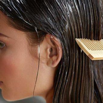 אישה מסרקת שיער, פיליפ מרטינס, מסכה לשיער יבש